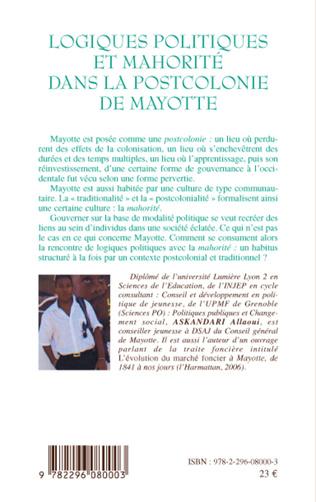 4eme Logiques politiques et mahorité dans la postcolonie de Mayotte