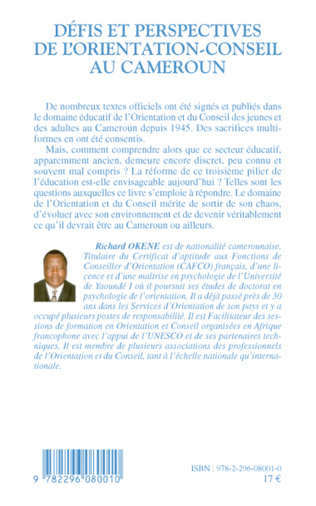 4eme Défis et perspectives de l'orientation-conseil au Cameroun
