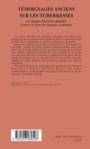 4eme Témoignages anciens sur les Tcherkesses