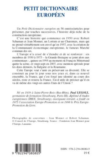 4eme Petit dictionnaire européen