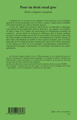 4eme Pour un droit rural grec