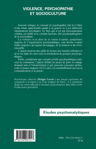 4eme Violence, psychopathie et socioculture