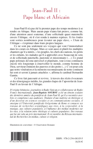 4eme Jean-Paul II: Pape blanc et Africain