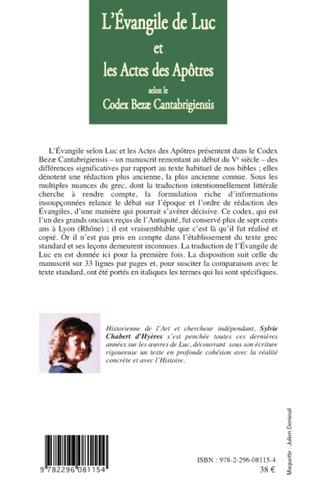 4eme L'Evangile de Luc et les Actes des Apôtres selon le codex Bezae Cantabrigiensis