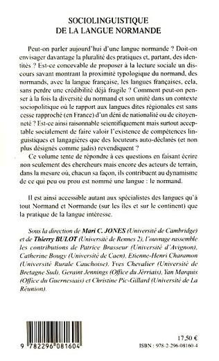 4eme Sociolinguistique de la langue normande