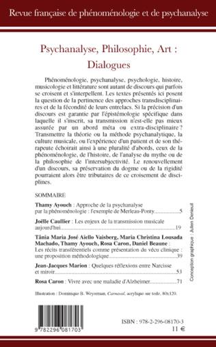 4eme Psychanalyse, philosophie, art, dialogues