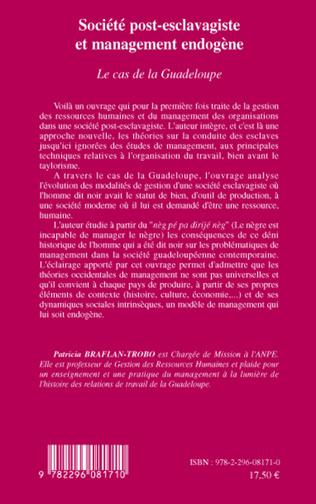 4eme Société post-esclavagiste et management endogène