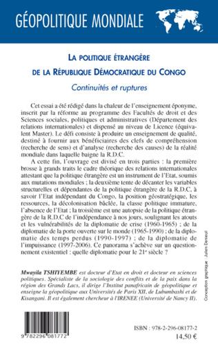4eme La politique étrangère de la République Démocratique du Congo