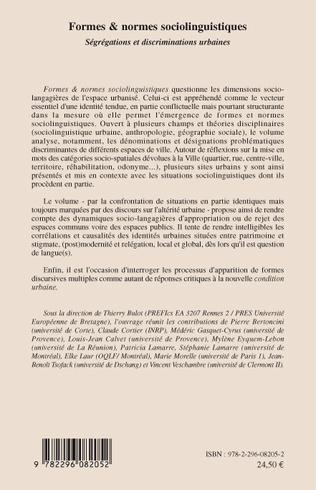 4eme Formes & normes linguistiques