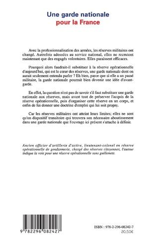 4eme Une garde nationale pour la France