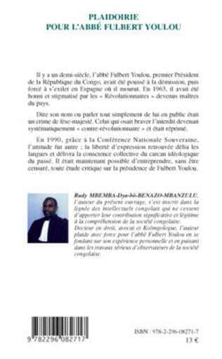4eme Plaidoirie pour l'Abbé Fulbert Youlou