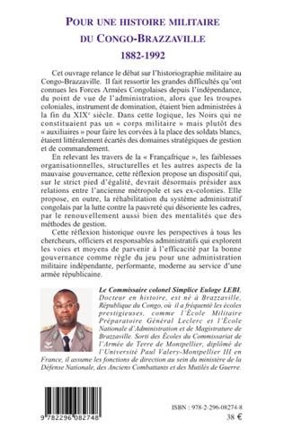4eme Pour une histoire militaire du Congo-Brazzaville (1882-1992)