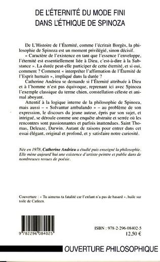 4eme De l'éternité du mode fini dans l'éthique de Spinoza