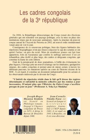 4eme Les cadres congolais de la 3è république