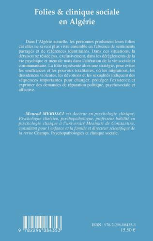 4eme Folies et clinique sociale en Algérie