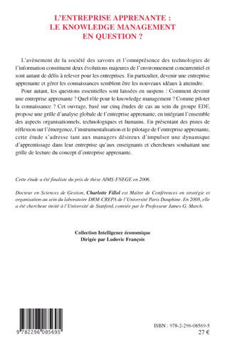 4eme L'entreprise apprenante : le knowledge management en question ?
