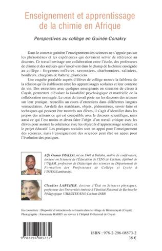 4eme Enseignement et apprentissage de la chimie en Afrique