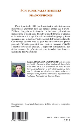 4eme Ecritures palestiniennes francophones
