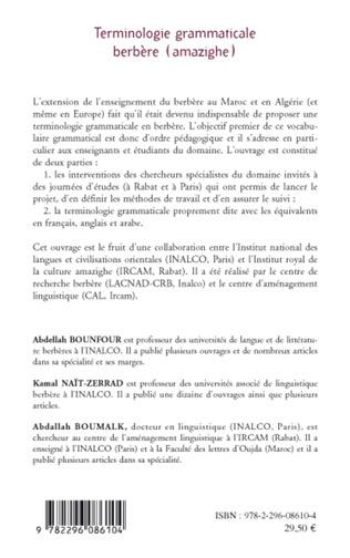 4eme Terminologie grammaticale berbère (amazighe)