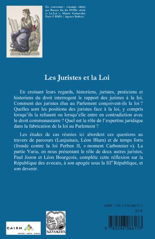 4eme Les Juristes et la Loi