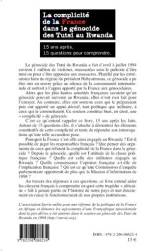 4eme La complicité de la France dans le génocide des Tutsi au Rwanda