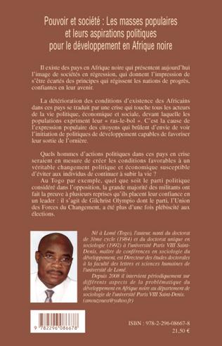 4eme Pouvoir et société: Les masses populaires et leurs aspirations politiques pour le développement en Afrique noire