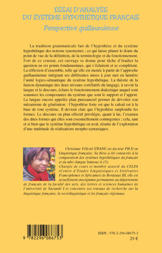 4eme Essai d'analyse du système hypothétique français