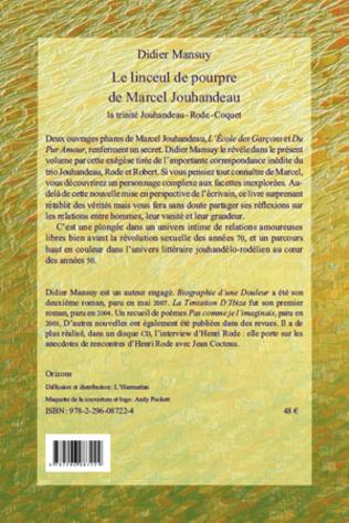 4eme Linceul de pourpre de Marcel Jouhandeau, la trinité Jouhandeau - Rode - Coquet