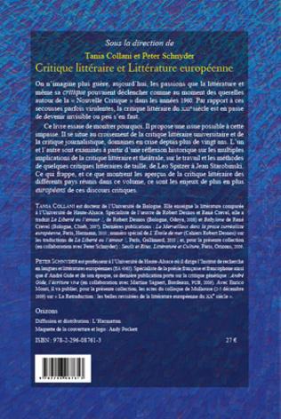 4eme Critique littéraire et Littérature européenne
