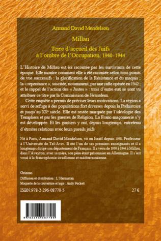 4eme Millau. Terre d'accueil des Juifs à l'ombre de l'Occupation, 1940-1944