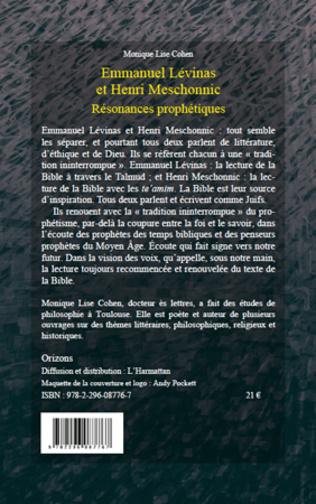 4eme Emmanuel Lévinas et Henri Meschonnic