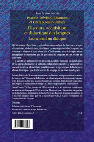 4eme Discours, acquisition et didactique des langues