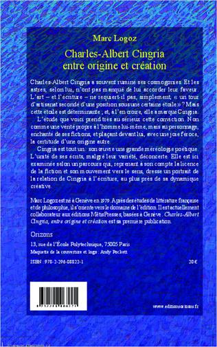 4eme Charles-Albert Cingria entre origine et création