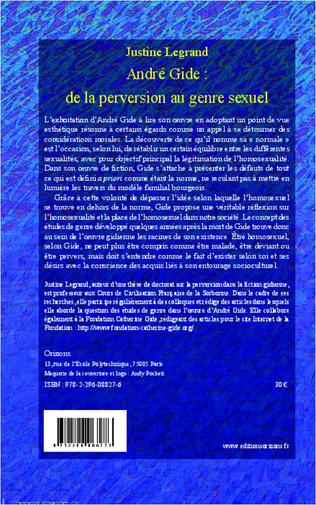 4eme André Gide : de la perversion au genre sexuel