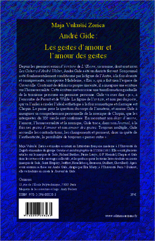 4eme André Gide : Les gestes d'amour et l'amour des gestes