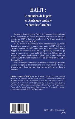 4eme Haïti: le maintien de la paix en Amérique centrale et dans les Caraïbes