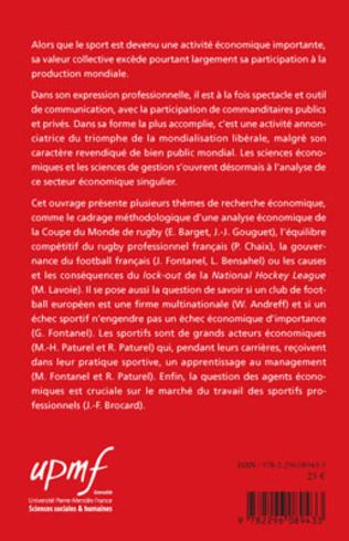 4eme Regards sur l'économie et le management du sport et des sportifs professionnels