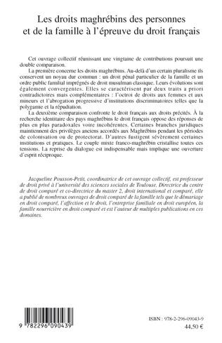 4eme Les droits maghrébins des personnes et de la famille à l'épreuve du droit français