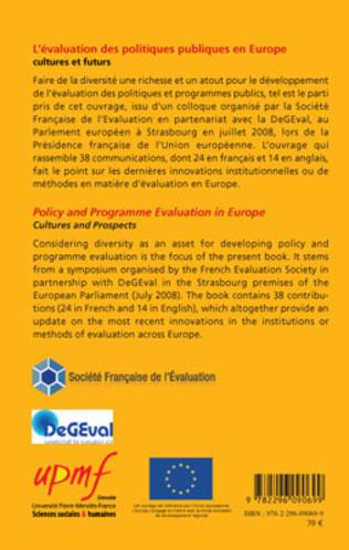 4eme L'évaluation des politiques publiques en Europe, culture et futurs