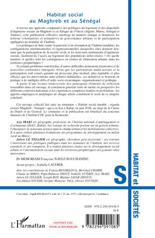4eme Habitat social au Maghreb et au Sénégal