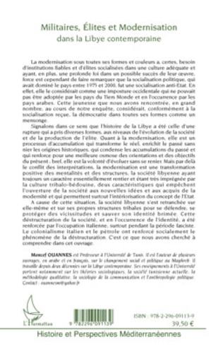4eme Militaires, élites et modernisation dans la Libye contemporaine