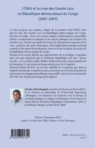 4eme L'ONU et la crise des Grands Lacs en République Démocratique du Congo
