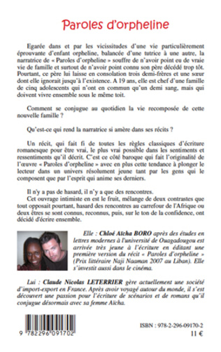 4eme Paroles d'orpheline