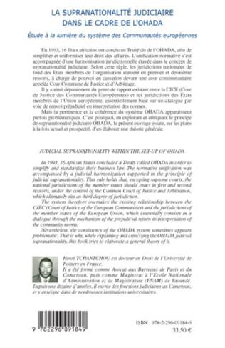 4eme La supranationalité judiciaire dans le cadre de l'OHADA