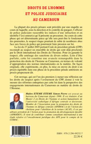 4eme Droits de l'homme et police judiciaire au Cameroun
