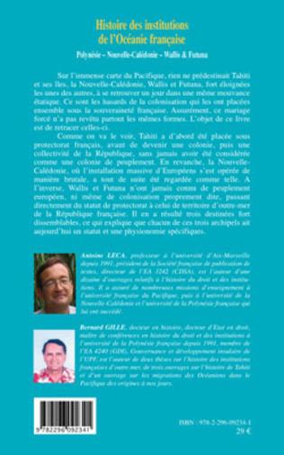 4eme Histoire des institutions de l'Océanie française