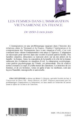 4eme Les femmes dans l'immigration vietnamienne en France