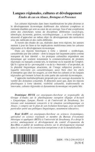 4eme Langues régionales, cultures et développement