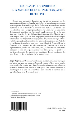 4eme Les transports maritimes aux Antilles et en Guyane française