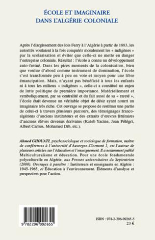 4eme Ecole et imaginaire dans l'Algérie coloniale